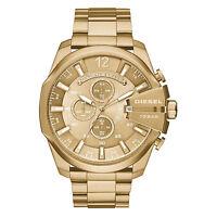 DIESEL Uhr DZ4360 MEGA CHIEF Herren Chronograph Edelstahl Gold Armbanduhr NEU
