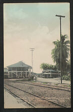 86-TRAINS & RAILROAD-PANAMA Cristobal Police Station,Post Office,CANAL ZONE-1912