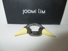 JOOMI LIM gunmetal Double Spike Link Ring Size 6 NWOT $181 yellow