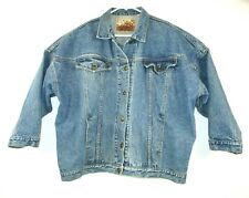 LAWMAN WORLD CLASS  Mens Denim Trucker Jacket Sz M- Acid Wash