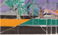"WOW Jacques VILLON SIGNED 1948 Limited Lithograph ""Le Grain Ne Meurt"" Framed COA"