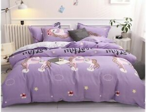 New Unicorn 4pcs bedding set Duvet/quilt pillowcase cover queen set