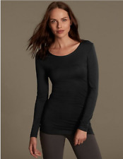 Ladies Famous Make Longline Long Sleeve Scoop Neck Thermal Top. 2 Colours. 6-20.