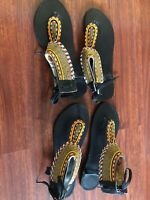 African Print Open Toe Shoes