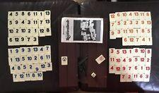 Vintage RUMMIKUB 1980 Pressman COMPLETE 106 Tiles Instructions Holder EUC