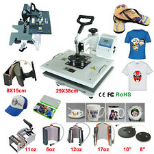 Multifunctional digital 9 in 1 Heat Press Machine for T-shirt Mug Cup Plate Hats