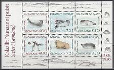 Grönland / Kalaallit Nunaat Block 3** (211-216**) Robben