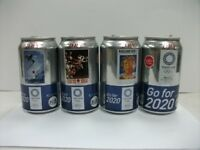 ASAHI SUPER DRY Tokyo 2020 Olympic design empty can 350 ml × 4 pcs complete set