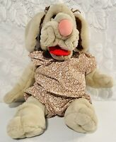 Vintage Ganzbros Wrinkles Dog Puppet 1981 Clothing Plush Toy Flower Outift Girl