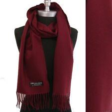 Mens WINTER Cozy CASHMERE SCARF SOLID Wine Scotland Soft Warm Wool Wrap NEW