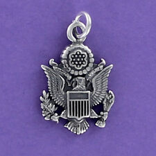 Great Seal of the United States Charm 925 Sterling Silver for Bracelet Necklace