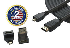 Micro-HDMI to HDMI Cable for Amazon Kindle Fire Hd 7.6 8.9 (2012 Models) 12 Feet