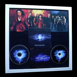 WITHIN TEMPTATION+Silent+LTD+GALLERY QUALITY FRAMED+FAST GLOBAL SHIP+Not Signed