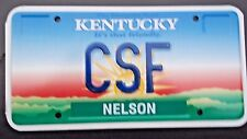 """Ky Vanity License Plate """" Csf """" Carl Cathy Chris Fraser Franklin Foster Fleming"""