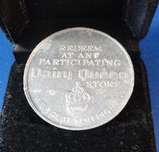 "Medal - Dairy Queen ""Dollar"" - Aluminum Free Sundae Coin"