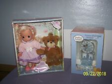 Precious Moments Porcelain Anniversary Clock & My Beary Best Friend Doll Melody