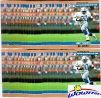 Huge lot of (100) 1990 Pro Set #1 Barry Sanders Card Detroit Lions Hall of Famer