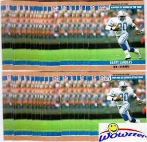 Huge lot of (100) 1990 Pro Set #1 Barry Sanders Card Lions Hall of Famer