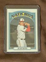 Juan Soto Washington Nationals 2021 Topps Heritage Chrome 791/999 Baseball Card