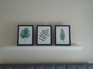 Modern Leaf Botanical Home Decor Prints Set Of 3