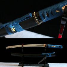 handmade 1095 high carbon steel Japanese Samurai real Sword Wakizashi full tang.