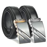 Fashion Men Casual Waistband Business Leather Automatic Buckle Waist Strap Belt