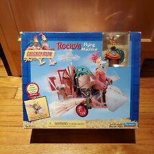 2000 Playmates Chicken Run Rocky's Flying Machine & Figure Open Box Complete