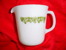 PYREX CORNING SPRING BLOSSOM GREEN TALL CREAMER GENTLY USED FREE USA SHIPPING