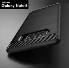 COVER CUSTODIA MORBIDA Per Samsung Galaxy NOTE 8 Originale CARBON FIBER CARBONIO