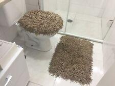 RUG MEDUSA BATHROOM SET CARAMEL AND LIGHT BROWN