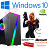 Fast Gaming PC Computer Bundle Quad Core i5 8GB 1TB Windows 10 Nvidia GTX 1050Ti
