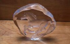 Mats Jonasson Sweden Crystal Galloping Horse Sculpture - Signed