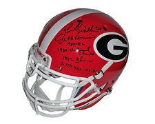 Herschel Walker Aaron Murray Georgia Bulldogs Signed STAT Helmet 4 inscriptions