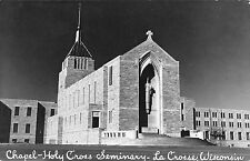 La Crosse Wisconsin Holy Cross Seminary Chapel Real Photo Antique PC (J38472)