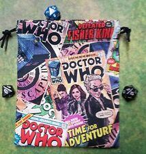 Doctor Who Comic Books dice bag, card bag, makeup bag