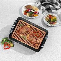 Power Smokeless Indoor Electric Grill With Tempered & Griddle Plate