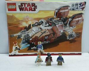 Star wars Lego 7753 clone wars Pirate Tank minifigure x3 & instructions Hondo