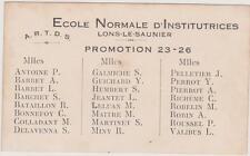 ECOLE NORMALE D'INSTITUTRICES LONS LE SAUNIER-PROMOTION 1923-1926-LISTE NOMS/
