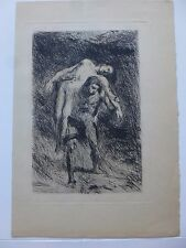 ALEXANDRE FALGUIERE ETCHING CAIN AND ABEL