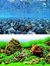 Fond décoratif aquarium 100 cm x hauteur 45 cm paysage, terrarium, aquarium