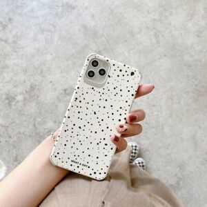 For iPhone 12 11 Pro XS Max XR 12 Mini 8 7 Polka Dots Soft Silicone Cover Case
