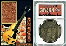 Beatles John Lennon Cavern Club Brick Display with Guitar Pick and Medal