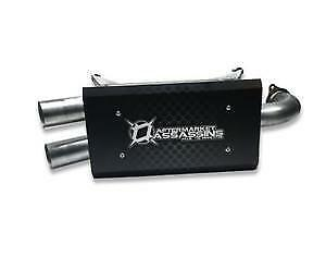 AFTERMARKET ASSASSINS STAINLESS SLIP-ON EXHAUST 2016-19 RZR XP TURBO / TURBO S