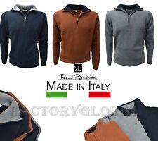 Maglione Uomo mezza zip RENATO BALESTRA Lana PULLOVER Cerniera CALDO made Italy