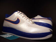 Nike LUNAR AIR FORCE 1 FUSE NRG MEDICOM WHITE BLUE ORANGE GOLD 573980-104 NEW 10
