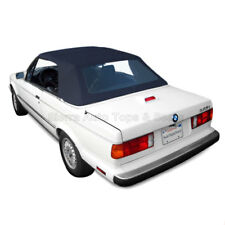 BMW 3-Series Convertible Top, 1987-93 in Blue German Cloth with Plastic Window