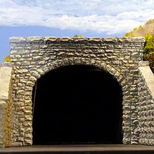 Chooch #9770 - Double Random Stone Tunnel Portal (2) - N scale