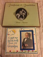 Grandparents & Grandchildren Shared Memories Hardcover + Grandpa picture frame