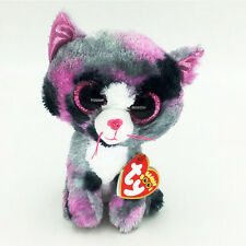 """Ty Beanie Boos 6"""" Cute Pepper multicolor Cat Stuffed Animals Toys Child Gift"""