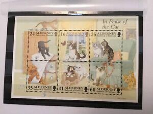 ALD50013 ALDERNEY C.I. - 1996 Presentation Sheet - Cats - set of 6 -  MNH